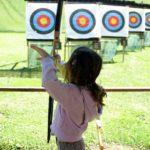 archer enfant - stand de tir à l'arc du Grand Bornand